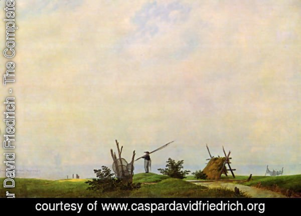 Caspar David Friedrich - Sea beach with fisherman (The fisherman)