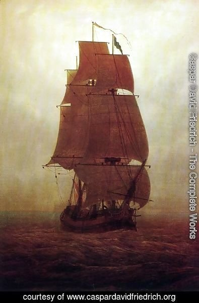 Caspar David Friedrich - Sailing ship