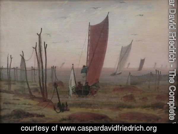 Caspar David Friedrich - Ships sailing off in the morning