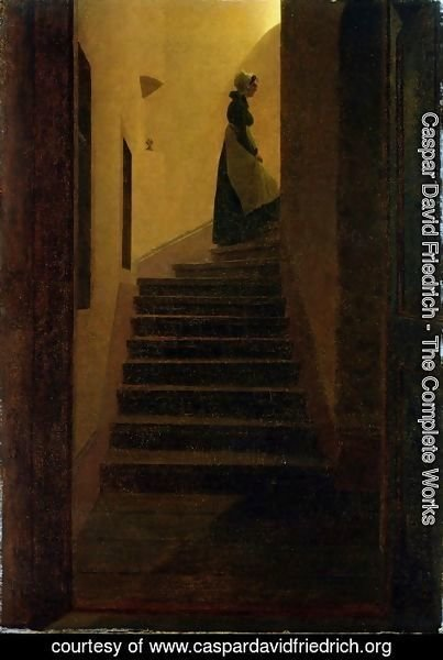 Caspar David Friedrich - Woman on the stairs