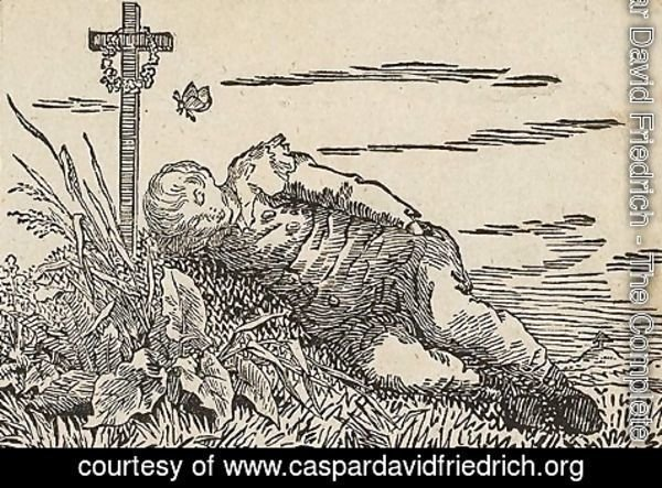 Caspar David Friedrich - Boy sleeping on a grave