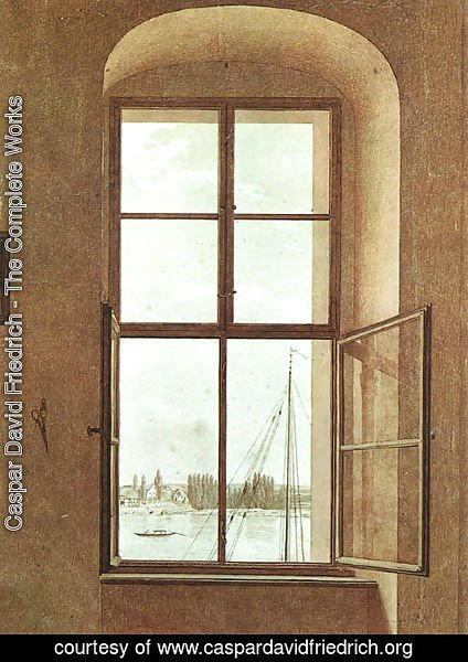 Caspar David Friedrich - View from the Painter's Studio 1805-06