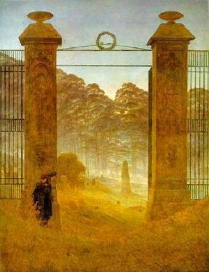 Caspar David Friedrich - Cemetery At Dusk