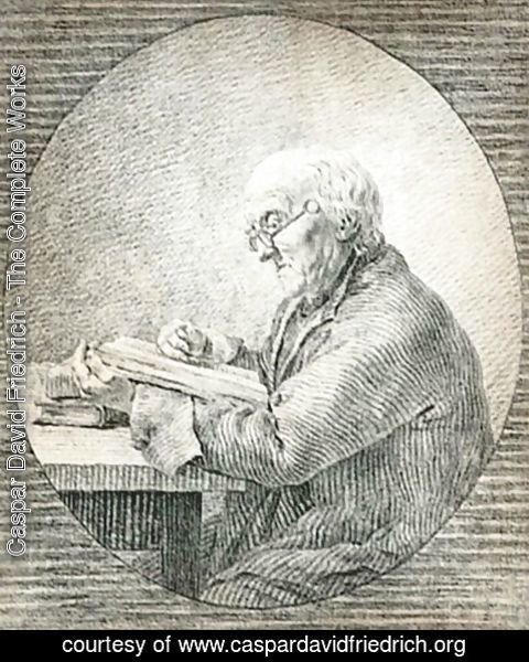 Caspar David Friedrich - Adolf Gottlieb Friedrich Reading 1802