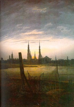 Caspar David Friedrich - City at Moonrise 1817