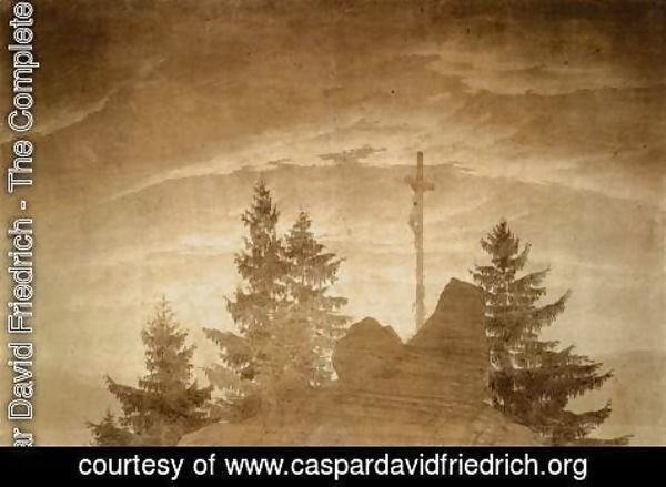 Caspar David Friedrich - Cross in the Mountains 1805-06