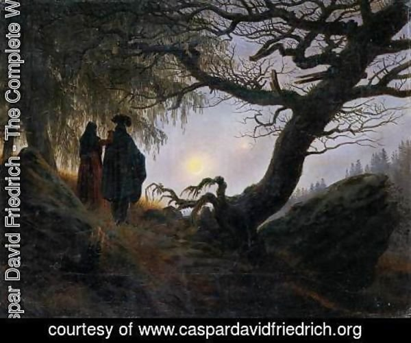 Caspar David Friedrich - Man and Woman Contemplating the Moon c. 1824