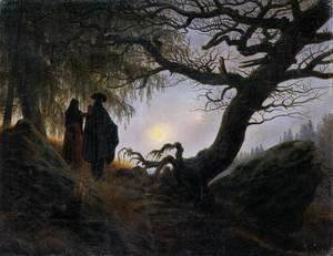 Man and Woman Contemplating the Moon c. 1824