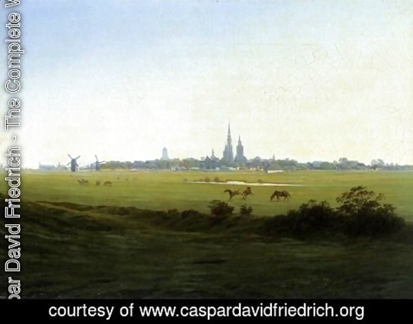 Caspar David Friedrich - Meadows near Greifswald c. 1822