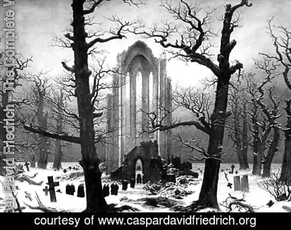 Caspar David Friedrich - Monastery Graveyard In The Snow