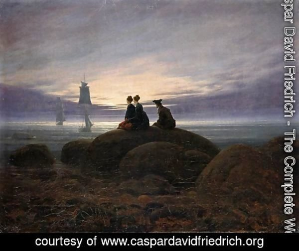 Caspar David Friedrich - Moonrise by the Sea c. 1822