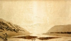Mountainous River Landscape (Day Version) 1830-35