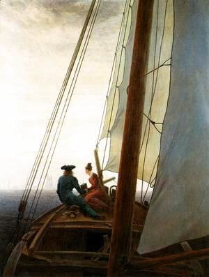 Caspar David Friedrich - On the Sailing Boat c. 1819