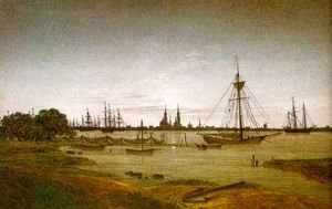 Caspar David Friedrich - Port by Moonlight 1811