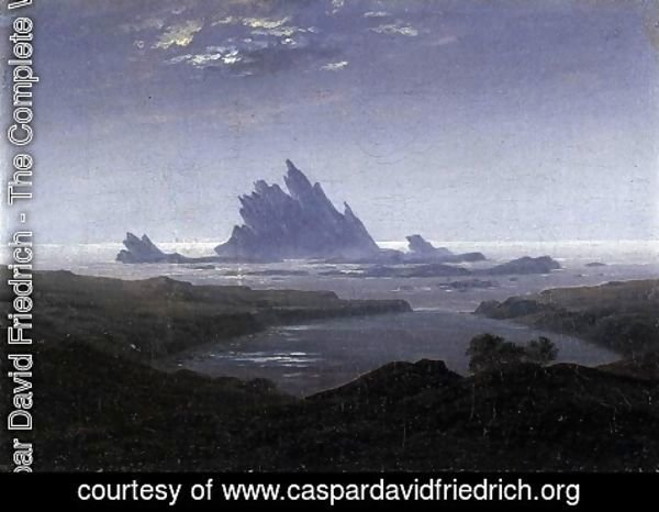 Caspar David Friedrich - Rocky Reef on the Sea Shore  c.1824