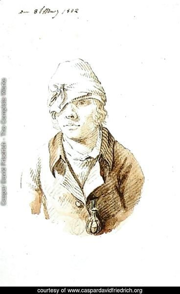 Self Portrait With Cap And Sighting Eye Shield 1802