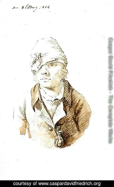 Caspar David Friedrich - Self Portrait With Cap And Sighting Eye Shield 1802