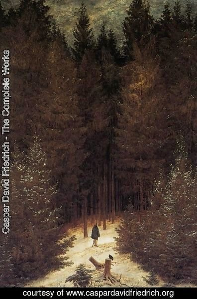 Caspar David Friedrich - The Chasseur in the Forest 1814