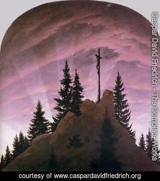Caspar David Friedrich - The Cross In The Mountains (Tetschen Altar) 1808
