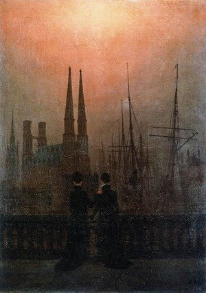 Caspar David Friedrich - The Sisters on the Balcony c. 1820