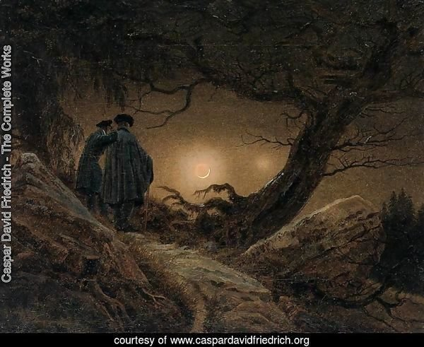 Two Men Contemplating the Moon 1819-20