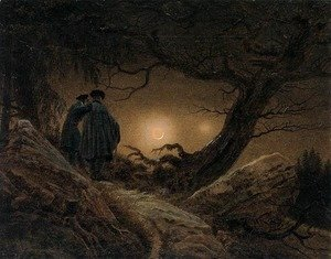 Caspar David Friedrich - Two Men Contemplating the Moon 1819-20