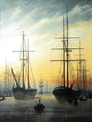 Caspar David Friedrich - View of a Harbour 1815-16