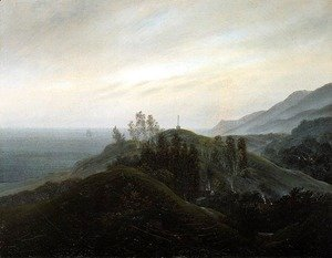 Caspar David Friedrich - View of the Baltic 1820-25