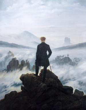 Caspar David Friedrich - The Wanderer above the Mists 1817-18
