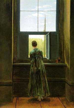 Caspar David Friedrich - Woman at a Window 1822
