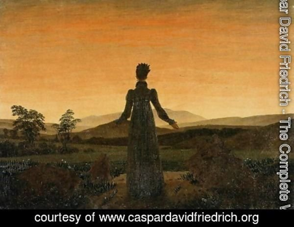 Caspar David Friedrich - Woman before the Rising Sun (Woman before the Setting Sun) 1818-20