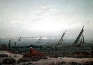 Caspar David Friedrich - Woman on the Beach of Rugen 1818