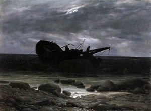 Caspar David Friedrich - Wreck in the Moonlight c. 1835
