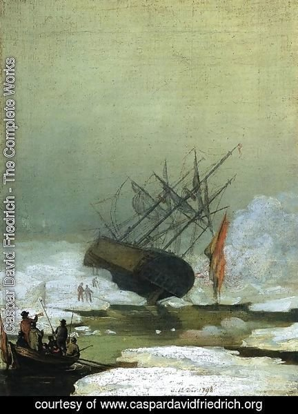 Caspar David Friedrich - Wreck in the Sea of Ice 1798