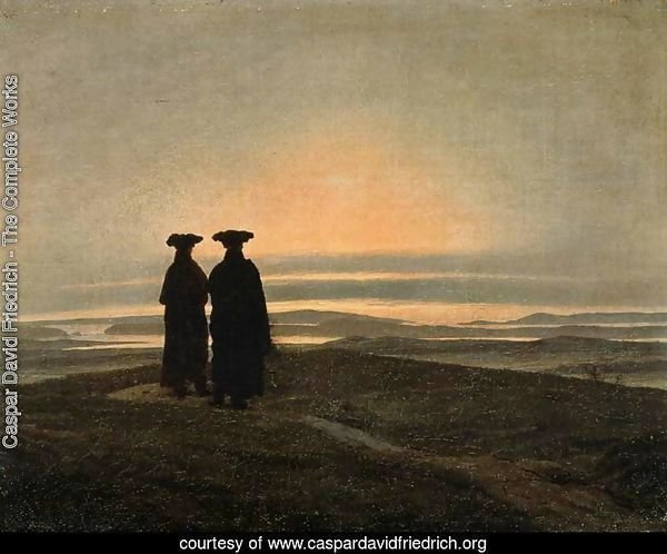 Evening Landscape with Two Men 1830-35