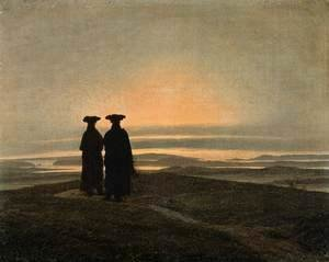Caspar David Friedrich - Evening Landscape with Two Men 1830-35