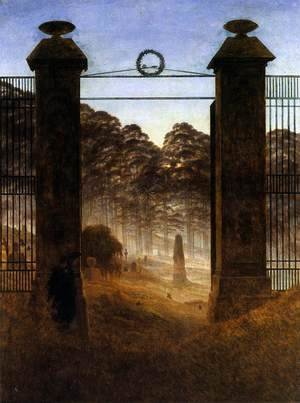 Caspar David Friedrich - The Cemetery Entrance 1825