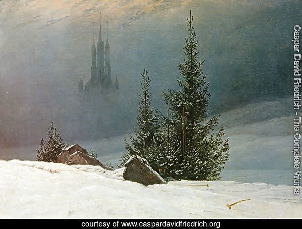 Winter Landscape with Church (2) 1811