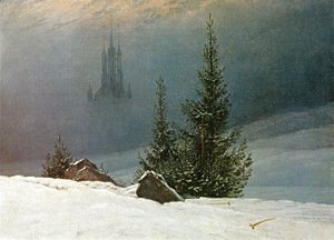Caspar David Friedrich - Winter Landscape with Church (2) 1811